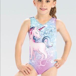 GK Elite Gymnastic Dance Swimsuit Leotard Unicorn